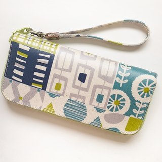 Early autumn geometric image. Waterproof long clip / wallet / purse / purse