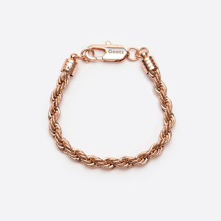 GOOTS / 7MM Twisted-Chain Bracelet 7MM 麻花手鍊