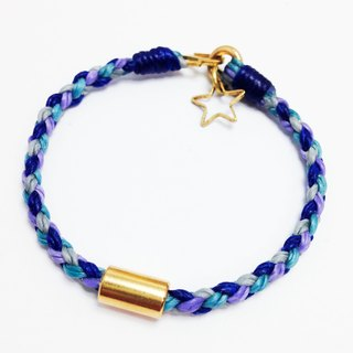 Small Fly Me to Polaris. Geometric party ◆ Sugar Nok ◆ wax line bracelet brass