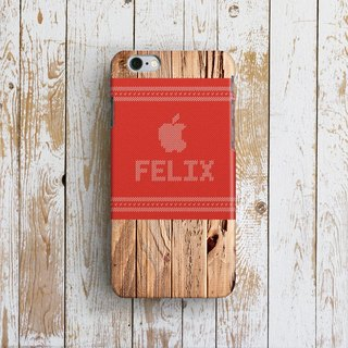 Personalized, Apple Woody Wooly, - Designer iPhone Case. Pattern iPhone Case.