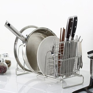 * Design Desktop strong housing * Stainless steel storage rack, fusion turret, chopping boards frame, pot racks, trays, chopsticks basket as a whole, M-type line can be slid good thing to get a good income, kitchen shelving