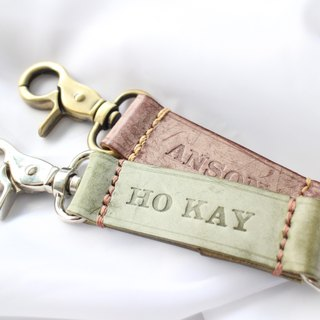 Make Your Choicesss Italy rub the wax bronze retro key chain