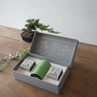 【Wolf Tea】Floral Green / Mellow Orange Gift Box