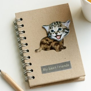 Love the Earth also love animals Notebook - Recycled Notebook - brilliant little cat
