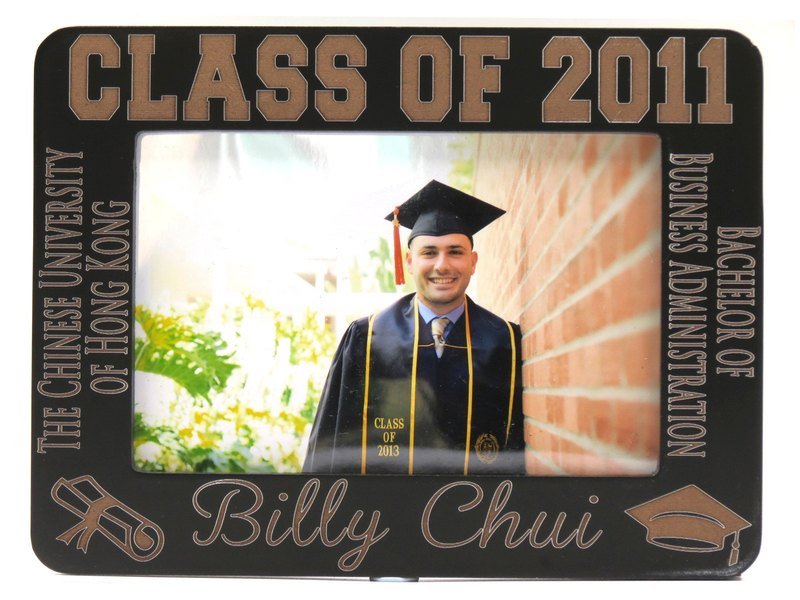 Customized carved wooden photo frame (4R photo) - Personalized Graduation theme x