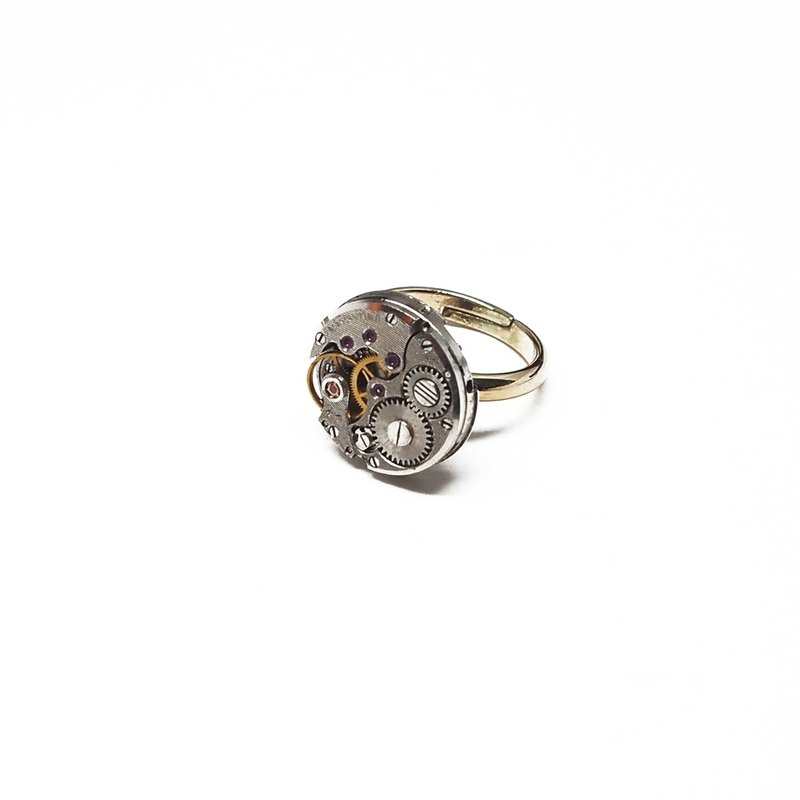 Steampunk steam punk-style movement ring ring