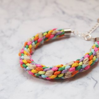 Custom hand-woven rainbow bracelet lucky ● Made in Hong Kong