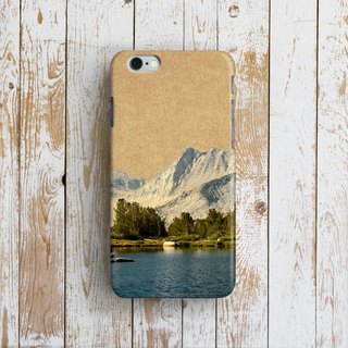 Mountain and Lake - Designer iPhone Case. Pattern iPhone Case. One Little Forest