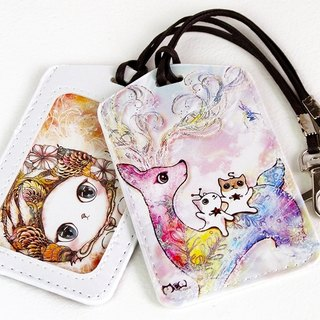 Good meow Universal Card Case - color snowflake deer