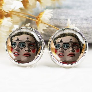 Double-sided women - earrings ear clip earrings ︱ ︱ ︱ little face modified fashion accessories birthday gift