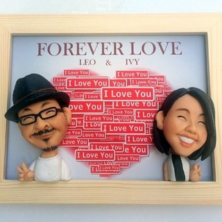 [Couple] is to frame your customized clay doll frame