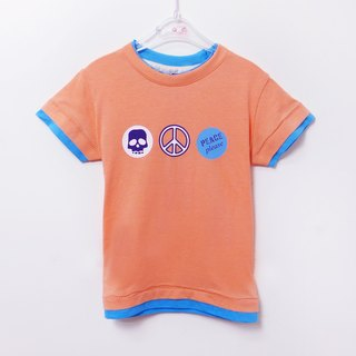 Orange cotton short-sleeved T-shirt
