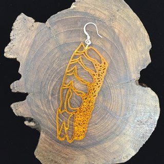 Lu Lu laser cut crab sushi exclusive fashion earrings