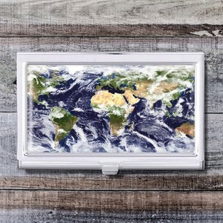 Weather Cloud Map - Business Card Holder / Card Case / Office Worker Accessories [Special U Design