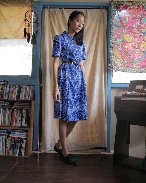 FOAK ancient meteor blue dress