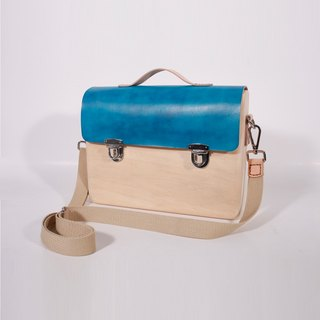 Wooden Business Tote Mini (Blue)
