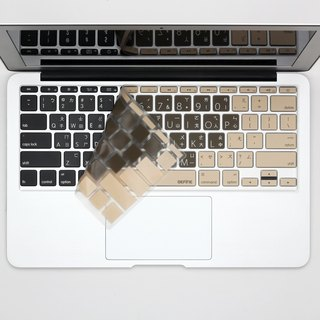 BEFINE MacBook Air 11 Chinese Qi Qiao keyboard protective film mocha color (8809402590391)