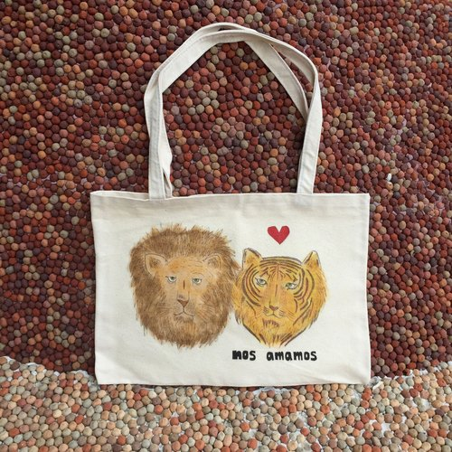 Canvas bag // love each other