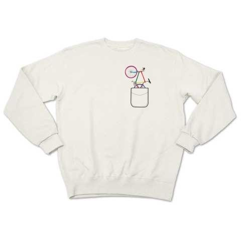 pocket bike (sweat white)