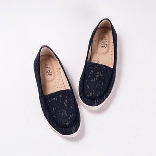 hanamikoji shoes  Comfortable Casual Flat Shoes Blue Lace