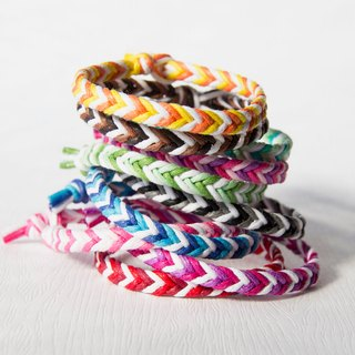 From shallow to deep - fine version entry / hand-woven bracelet