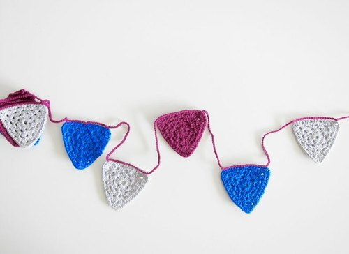 Bunting standard household ornaments crochet triangle