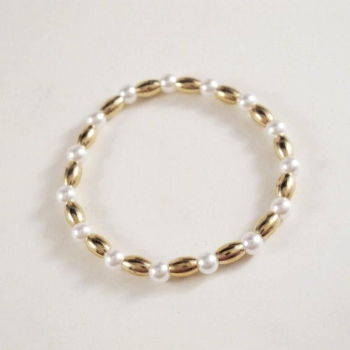 [Orange] MUCHU Mu Miss Pearl. Brass shell pearl bracelet PB019