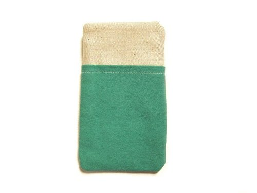Phone bags sea-green canvas