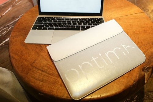 Optima MacBook 12-inch storage bag silver