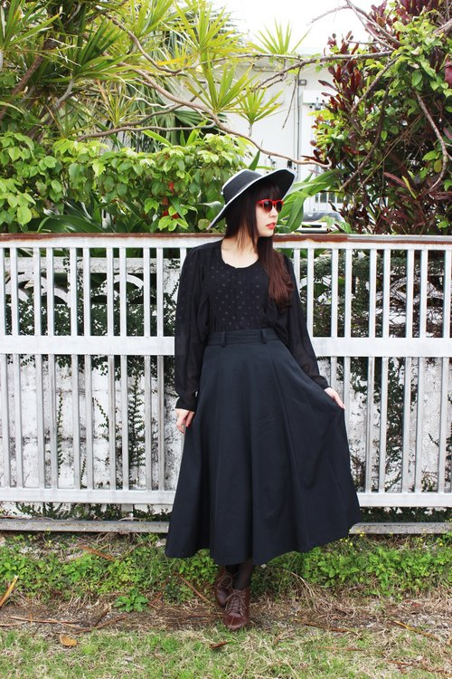 (Vintage) full-wave vintage black dress
