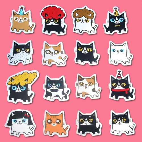 Stickers: fat cat (the sticker: 16 models)