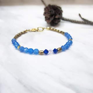 Blue Agate Bracelet (030) - Mouthless Fish
