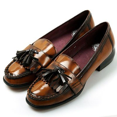 e'cho. Classic neutral color brown tassel loafers ║Ec16