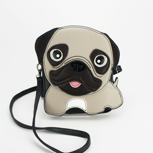 Sleepyville Critters - Adorable Little Pug Cross Body Bag
