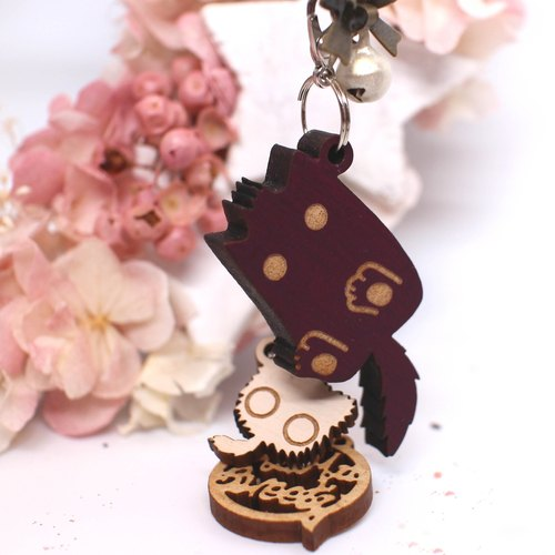 MuMu Sweety ✿ strange purple cat Mao ball / keychain / mobile phone strap / hardcover