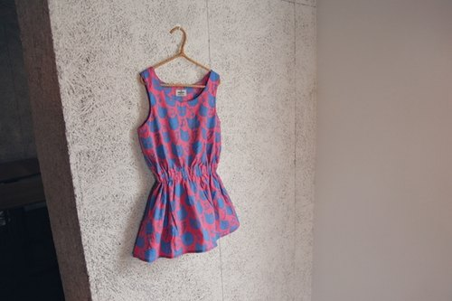 Minibite cat Graffiti little dress - pink / blue