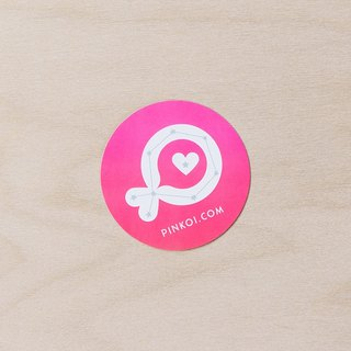 "Pinkoi Fish ""Constellation"" Medium Round Sticker (Pink)"