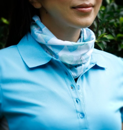 *cycling road race necessary*[COOLMAX sports scarf] balloon blue sky