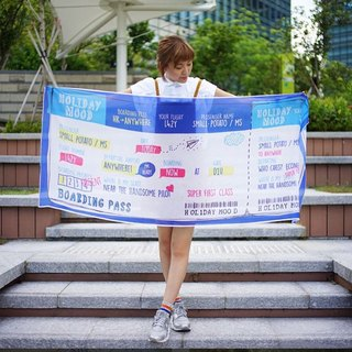 Holidaymood Boarding Pass Scarf  | 絲巾