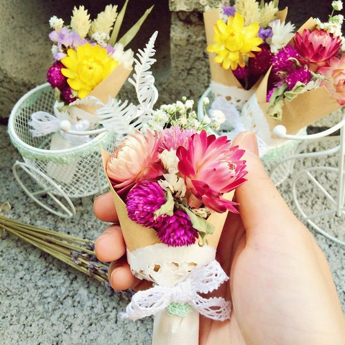 ❤ Loving heart ─ [palm] ❤ small bouquet (each bundle in transparent bags individually wrapped) was dried flowers wedding small wedding ceremony arranged a birthday gift EXPLORATION room outdoor photo wedding photo