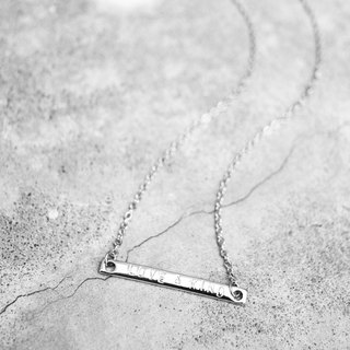 Personalized Silver Horizontal Bar Necklace