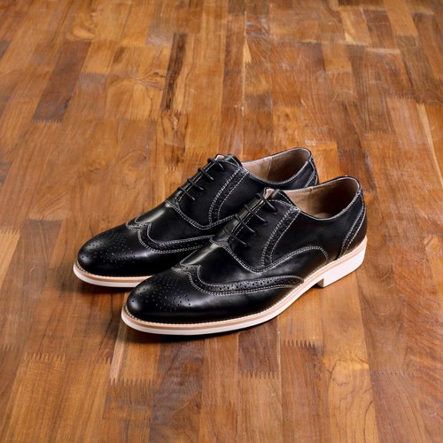Vanger elegant beauty light summer mashup wing Oxford shoes Va167 black personality (a small size)