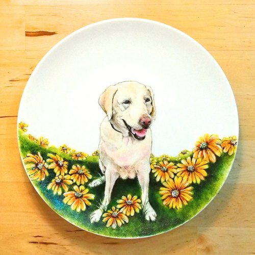 Wall decorative plate / 8-inch plate series - Daisy Love Lara