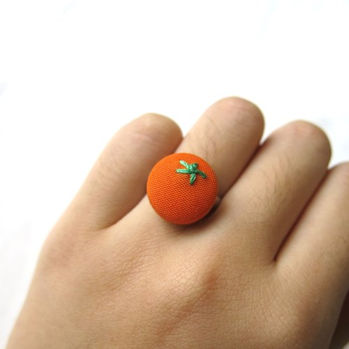 Ring in orange cloth embroidery models