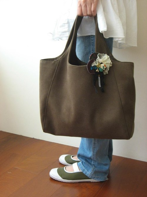 Autumn soft suede bag (dark green)