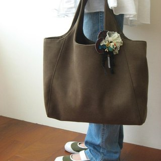 Autumn suede bag (dark green)