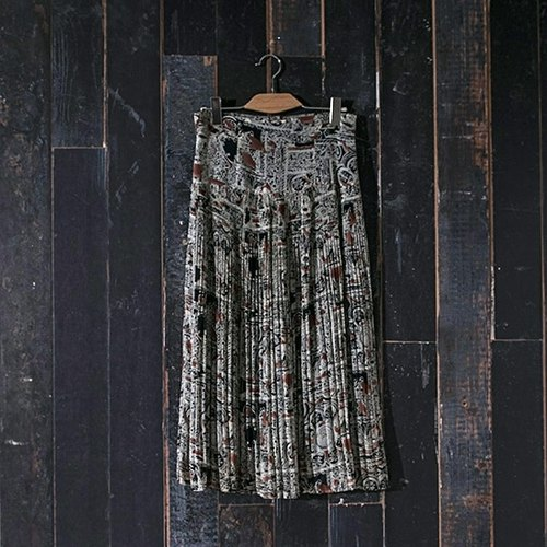/ Ringo Dream / graceful pattern vintage dress vintage one thousand fold