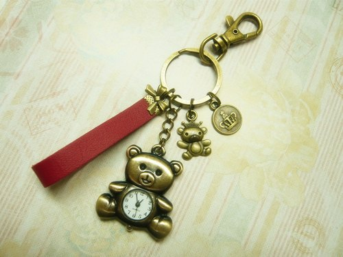 Nadia ♥ love handmade sweet dream girl watches clock key ring * Teddy Bear * Crown * Limited bow birthday gift