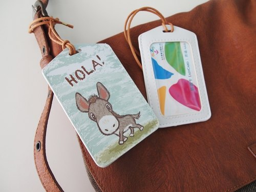 Multifunction card sleeve key ring -Hola! Little donkey