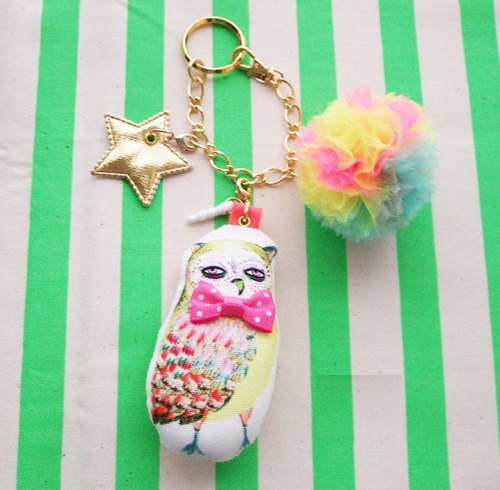 Animal bag strap ☆ owl / animal 2way bag charm